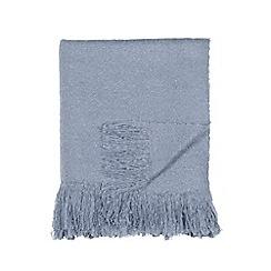 DKNY - Blue acrylic 'Mohair' throw