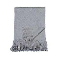 DKNY - Grey acrylic 'Mohair' throw