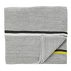Scion - Light grey 'Mr Fox' throw