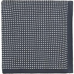 Hotel - Dark blue cotton 'Nayara' knitted throw