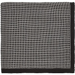 Hotel - Dark grey cotton 'Nayara' knitted throw
