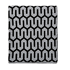 Hotel - Dark grey acrylic 'Nouba' knitted throw