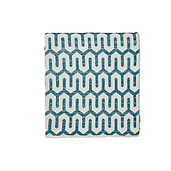 Hotel - Dark turquoise acrylic 'Nouba' knitted throw