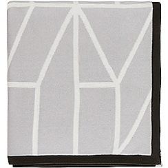 Scion - Light grey cotton 'Nuevo' knitted throw