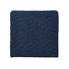 Bedeck 1951 - Dark blue cotton 'Oska' quilted throw