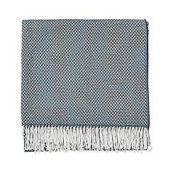 Sanderson - Dark blue acrylic Sanderson Home 'Paper Doves' woven blanket