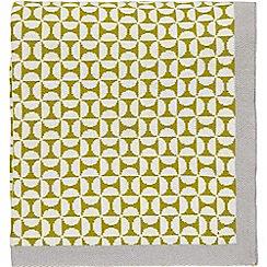 Scion - Light green cotton 'Pajaro' knitted throw