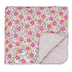 Helena Springfield - Pink polyester and cotton 'Penny' quilted bedspread