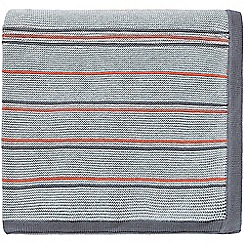 Sanderson - Grey cotton Sanderson Home 'Pippin' knitted throw
