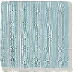 Sanderson - Light blue cotton Sanderson Home 'Pippin' knitted throw