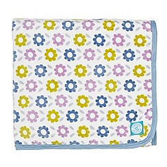 Helena Springfield - Blue polyester 'Pixie Melody' fleece throw
