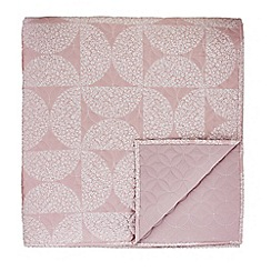 Helena Springfield - Cerise cotton and polyester 'Posy' quilted bedspread