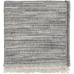 Harlequin - Grey acrylic and cotton 'Saona' woven throw
