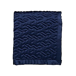 Fable - Dark blue polyester 'Sari' quilted bedspread