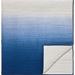 Designers Guild - Blue cotton 'Saraille' quilted throw