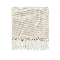 Sanderson - Natural acrylic Sanderson Home 'Sundial' woven blanket