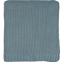 Bedeck 1951 - Light blue cotton 'Tabir' knitted throw