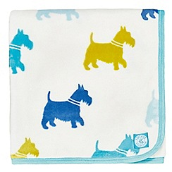 Helena Springfield - Blue polyester 'Tess Hometown Parade' fleece throw
