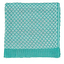 Helena Springfield - Blue acrylic 'Tess Hometown Parade' knitted throw
