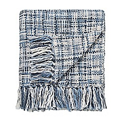 Scion - Blue Acrylic 'Usuko' Knitted Throw