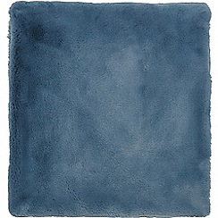 Hotel - Dark blue polyester 'Valloire' faux fur throw