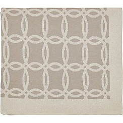 Hotel - Natural cotton 'Vana' knitted throw
