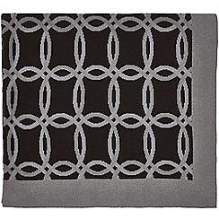Hotel - Dark purple cotton 'Vana' knitted throw