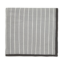 Sanderson - Light Grey Cotton 'Willow Tree' Knitted Throw