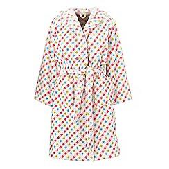 Helena Springfield - Multicoloured Polyester 'Mary Jane Trixie' Fleece Bath Robe