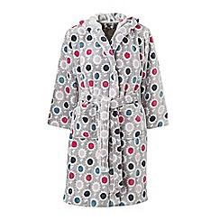 Helena Springfield - Multicoloured Polyester 'Trixie' Fleece Bath Robe