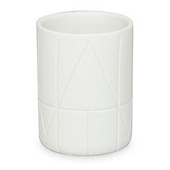 DKNY - White porcelain 'Geometrix' tumbler
