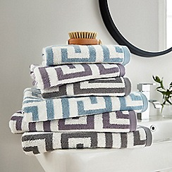 Hotel - Light purple combed cotton 'Alexis' towels