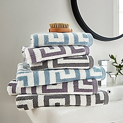 Hotel - Silver combed cotton 'Alexis' towels