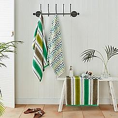 Helena Springfield - Green cotton 'Amalfi' towels