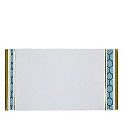 Helena Springfield - Light blue cotton 'Belle Border' towels