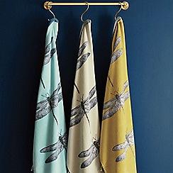Harlequin - Blue cotton 'Demoiselle' towels