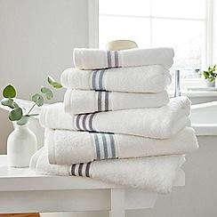 Hotel - Light blue combed cotton 'Estela' towels