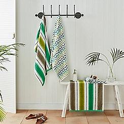Helena Springfield - Green cotton 'Jacaranda' towels