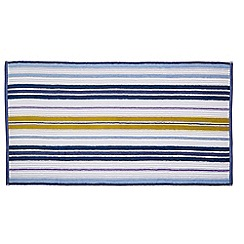 Helena Springfield - Blue cotton 'Melody Stripe' towels