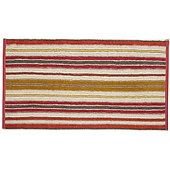 Helena Springfield - Bright orange cotton 'Melody Stripe' towels