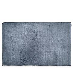 DKNY - Blue cotton 'Mercer' bath mat
