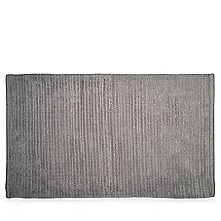 DKNY - Grey cotton 'Mercer' bath mat