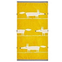 Scion - Mustard cotton velour 'Mr Fox' towels