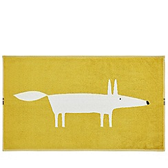 Scion - Mustard cotton velour 'Mr Fox' bath mat
