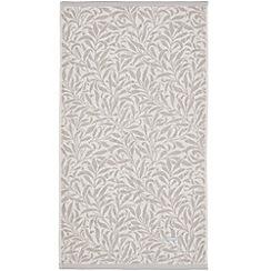 Morris & Co - Light grey cotton 'Willow Bough' towels