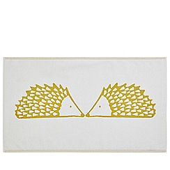 Scion - Mustard cotton velour 'Spike' bath mat
