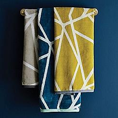 Harlequin - Blue cotton 'Sumi' towels
