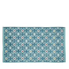 Helena Springfield - Light blue cotton 'Tilly Geo' towels