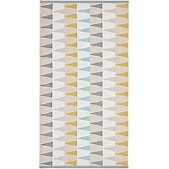 Harlequin - Grey trimmed cotton terry 'Azul' towels