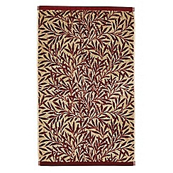 Morris & Co - Red 'Willow' towels